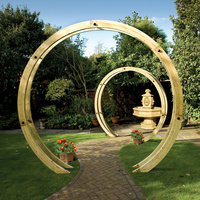 Wooden Disc Arch